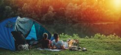 emplacement camping idéal face à un lac
