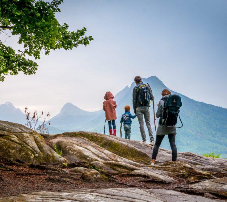 Randonnée France en montagne en famille