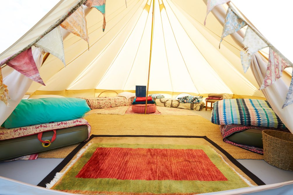 Glamping is a luxury introduction to camping